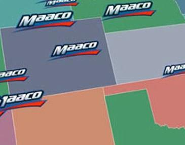 Map of Maaco locations